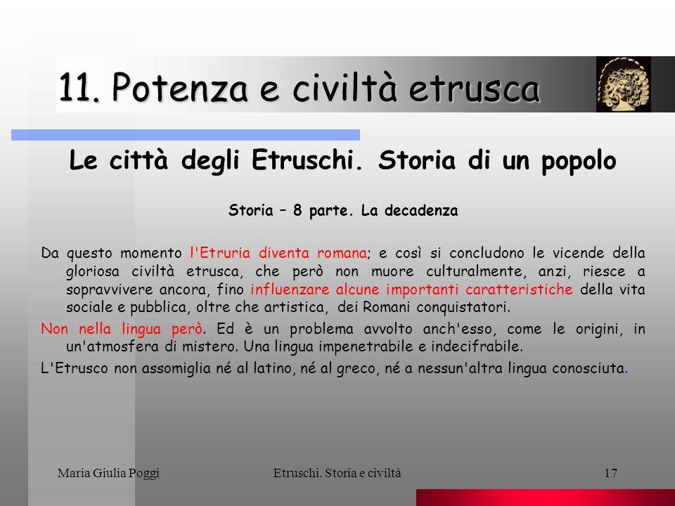 11. Potenza e civiltà etrusca