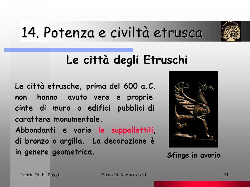 14. Potenza e civiltà etrusca