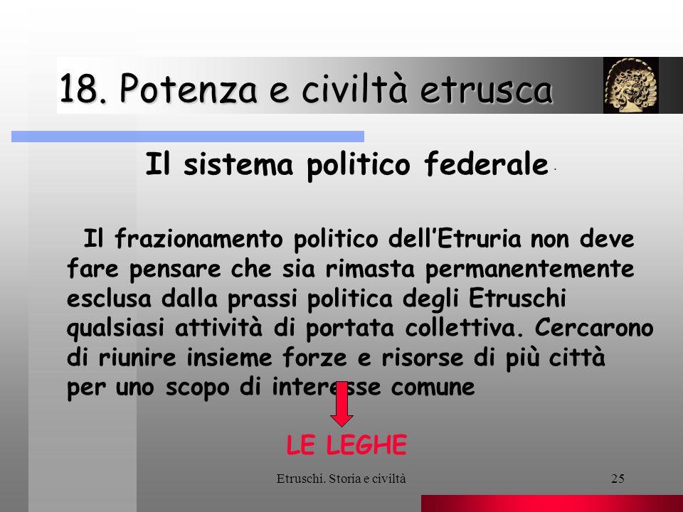 18. Potenza e civiltà etrusca