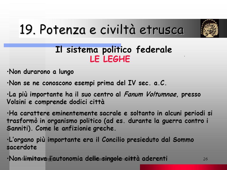 19. Potenza e civiltà etrusca
