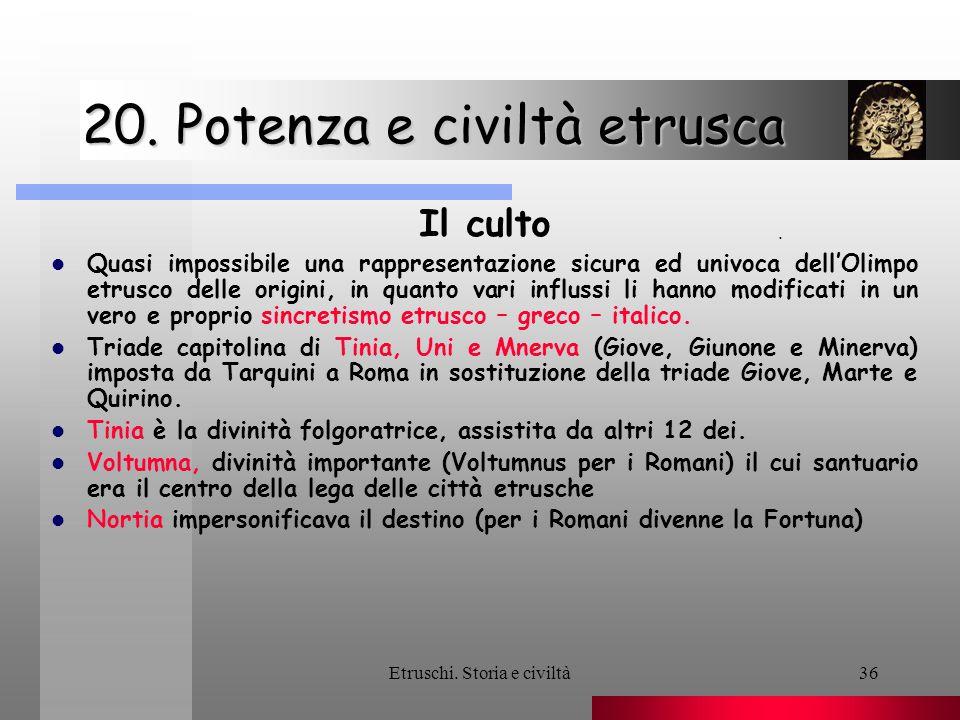 20. Potenza e civiltà etrusca