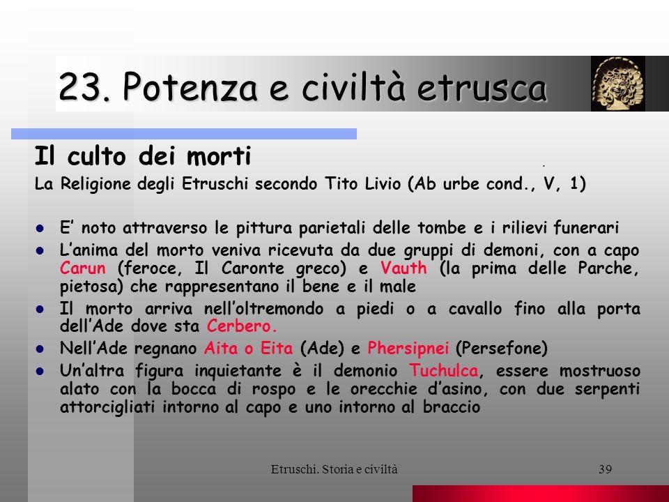 23. Potenza e civiltà etrusca