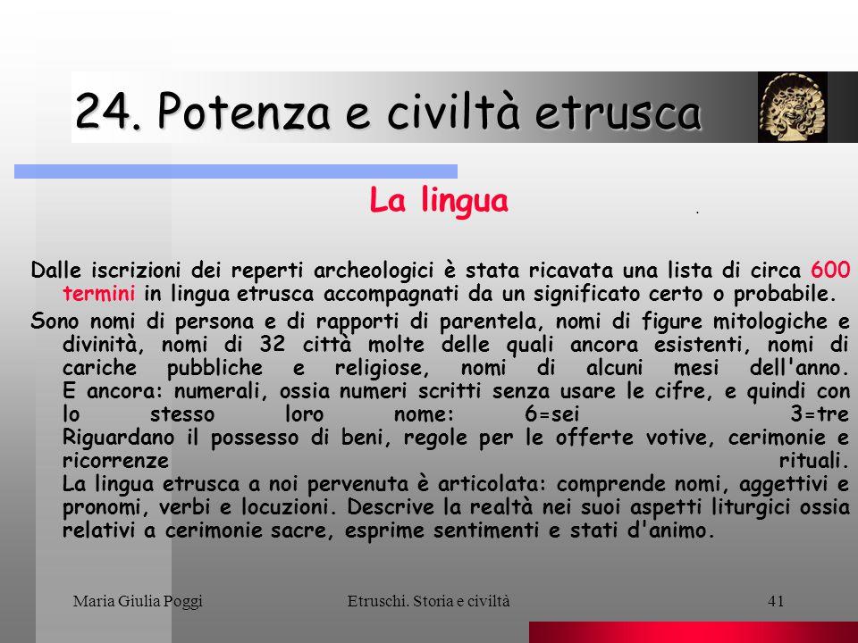 24. Potenza e civiltà etrusca