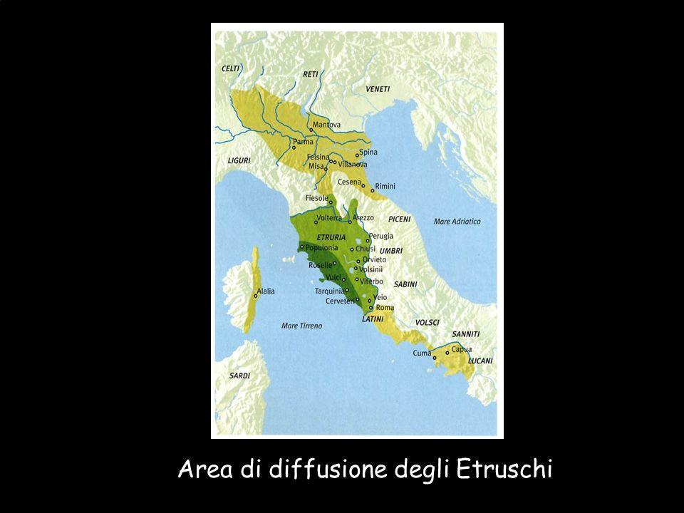 Area di diffusione degli Etruschi