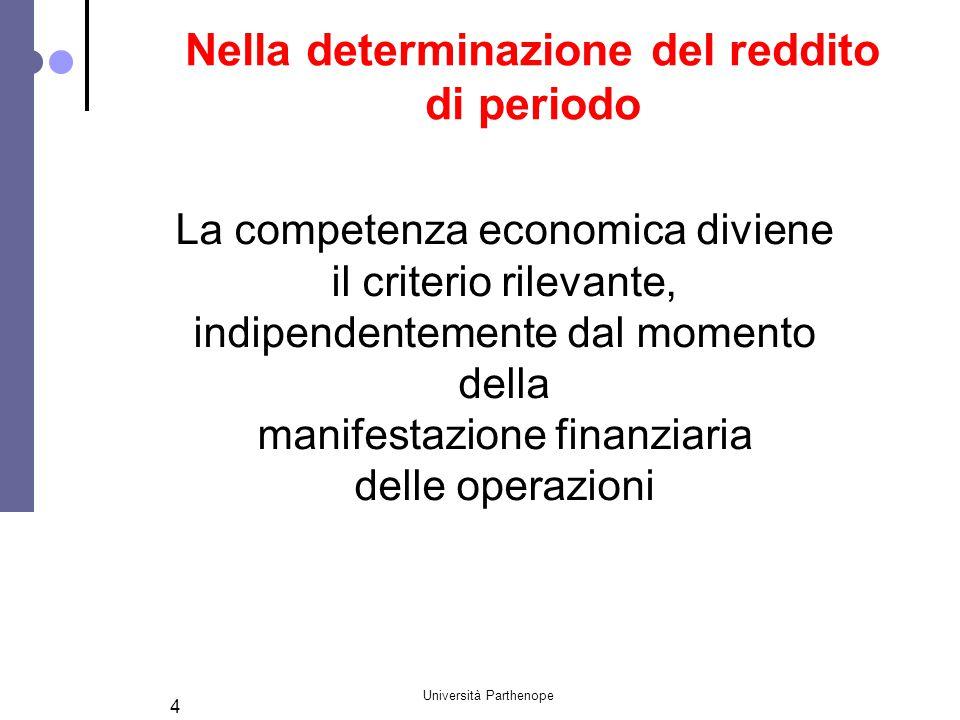 Nella determinazione del reddito di periodo