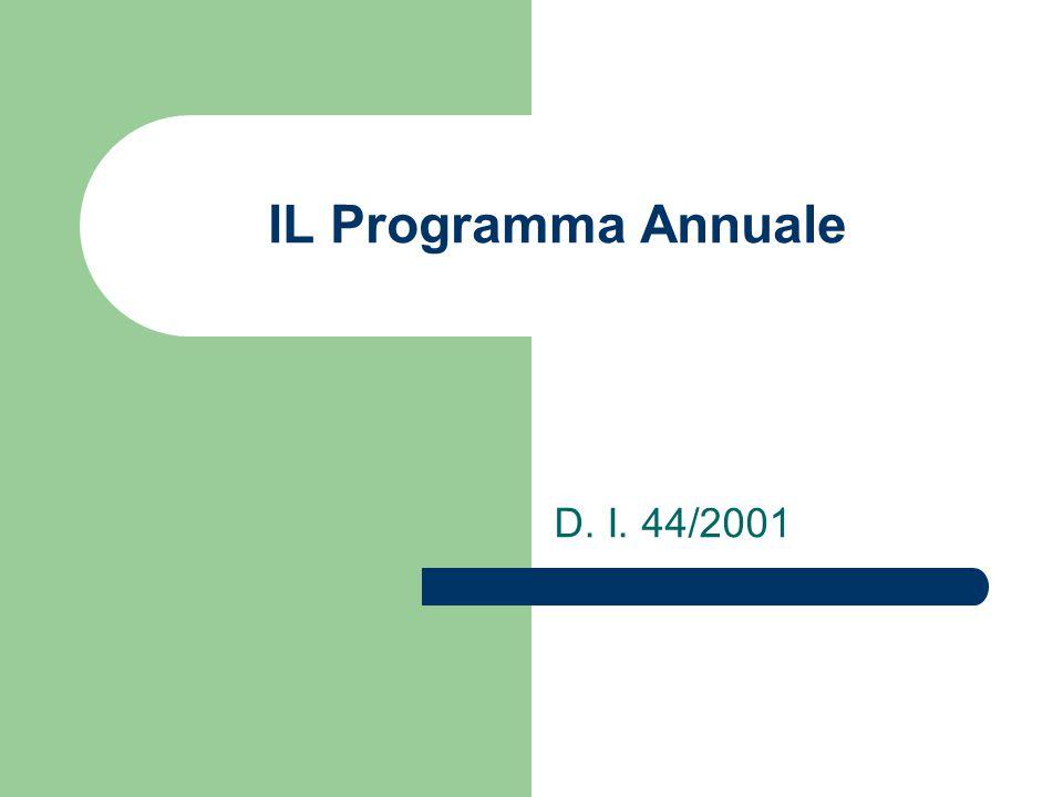 IL Programma Annuale D. I. 44/2001