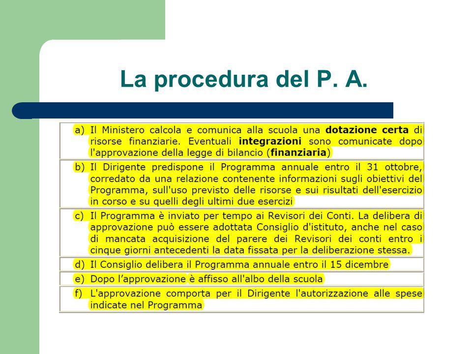 La procedura del P. A.