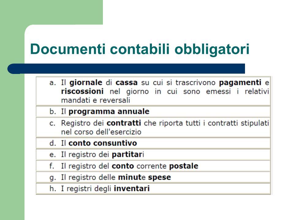 Documenti contabili obbligatori