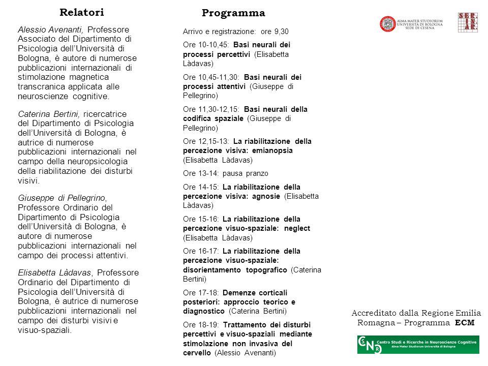 Accreditato dalla Regione Emilia Romagna – Programma ECM