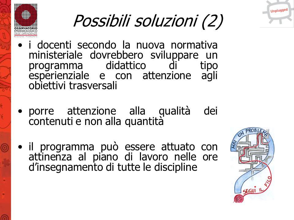 Possibili soluzioni (2)