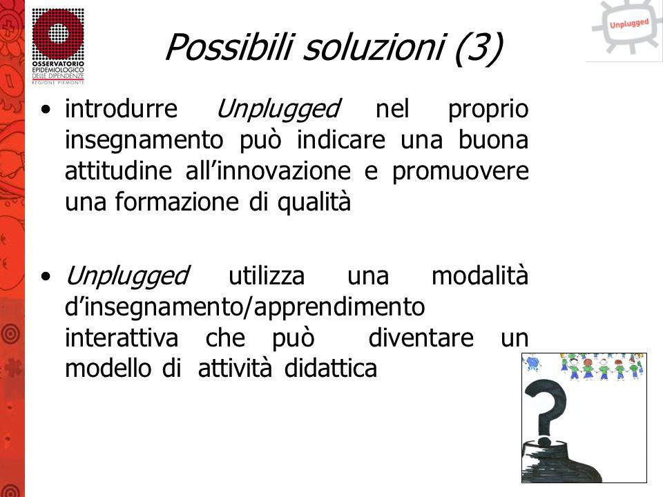 Possibili soluzioni (3)