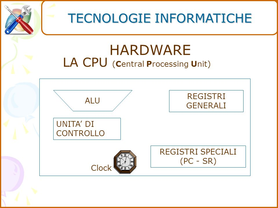 HARDWARE TECNOLOGIE INFORMATICHE LA CPU (Central Processing Unit)