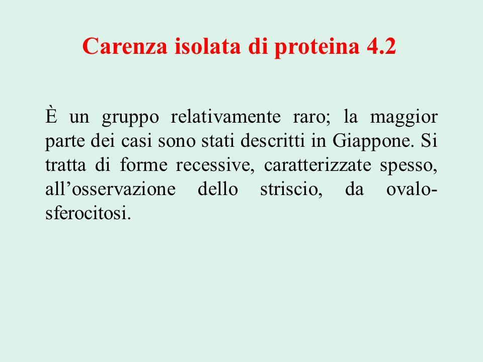 Carenza isolata di proteina 4.2
