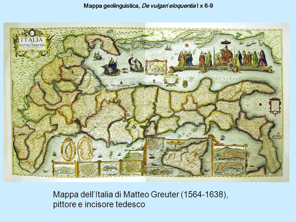 Mappa geolinguistica, De vulgari eloquentia I x 6-9