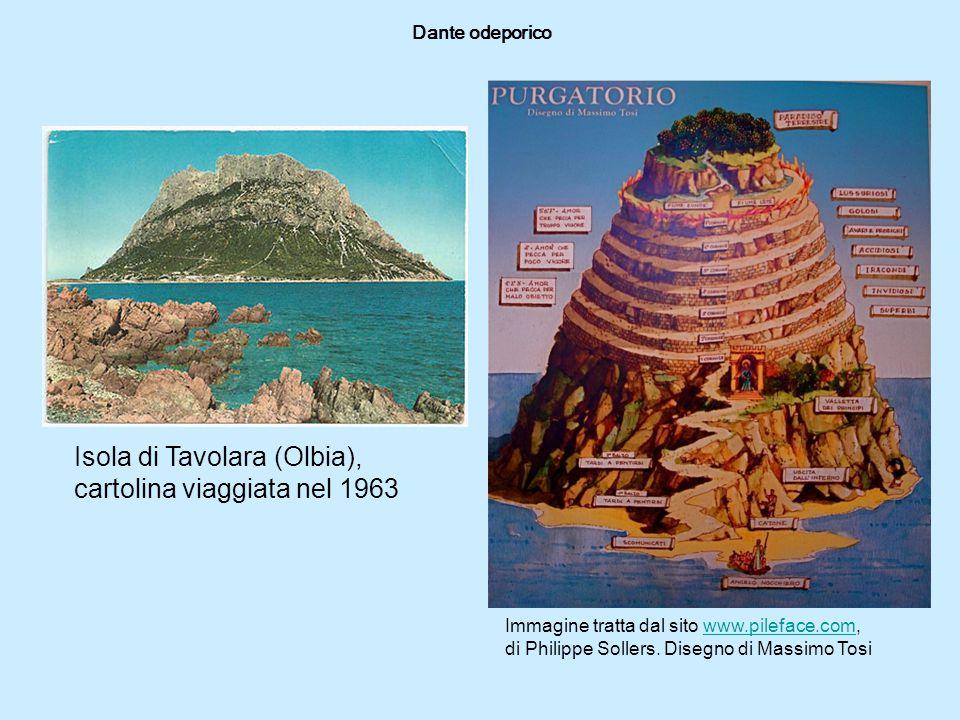 Isola di Tavolara (Olbia), cartolina viaggiata nel 1963