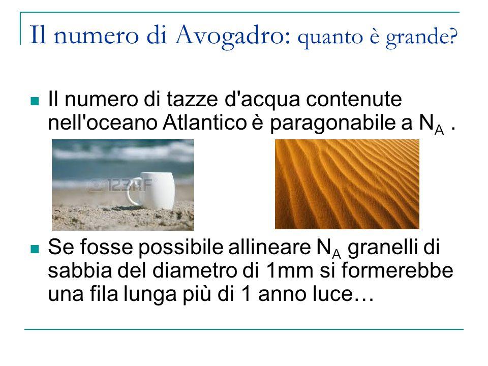 Il numero di Avogadro: quanto è grande