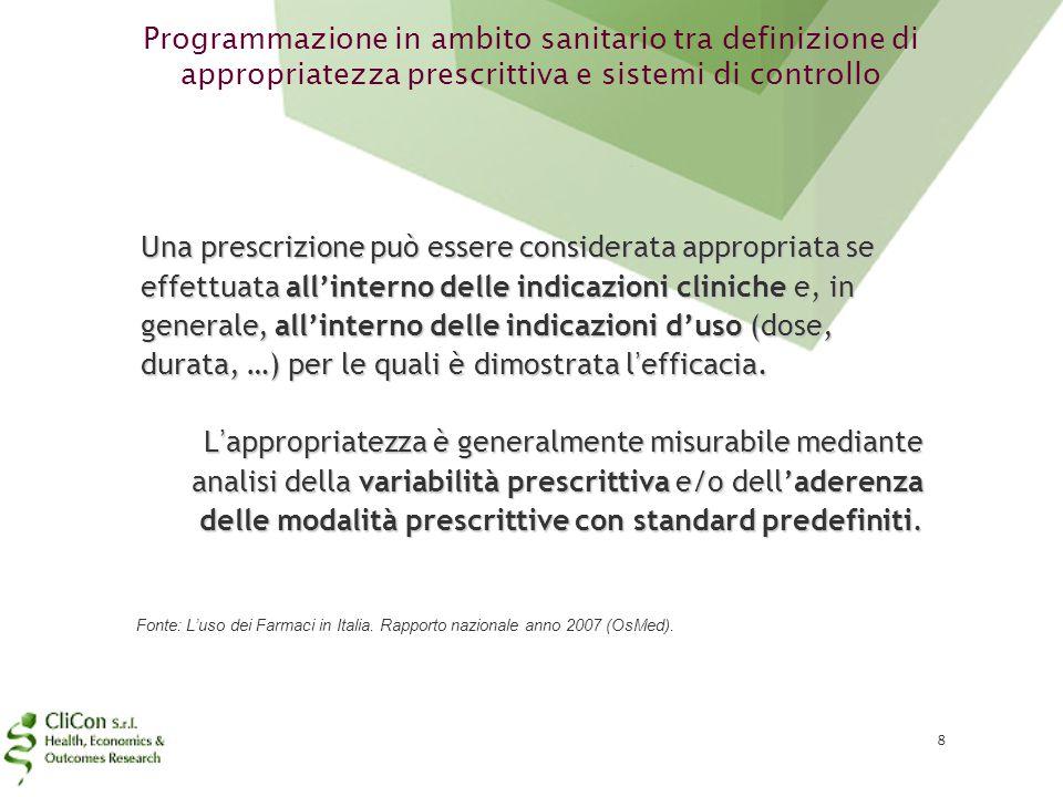 Programmazione in ambito sanitario tra definizione di appropriatezza prescrittiva e sistemi di controllo