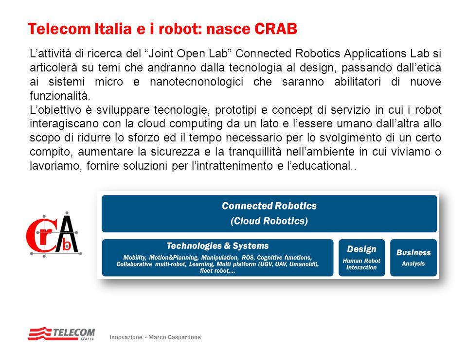Telecom Italia e i robot: nasce CRAB