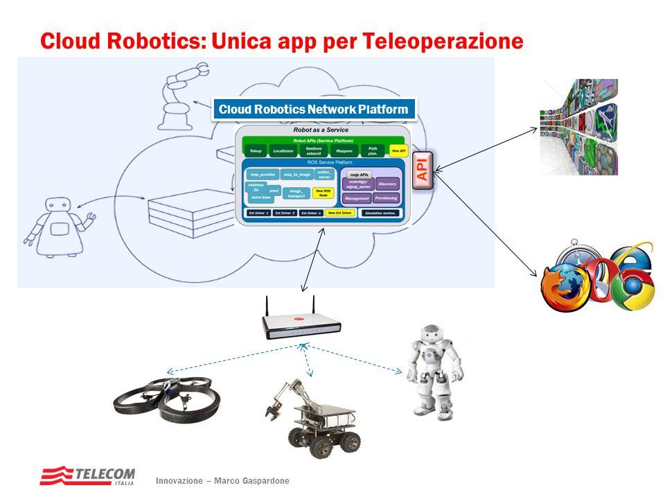 Cloud Robotics: Unica app per Teleoperazione