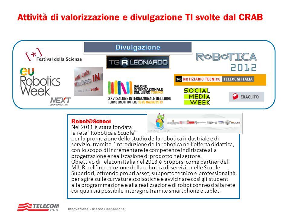 Attività di valorizzazione e divulgazione TI svolte dal CRAB