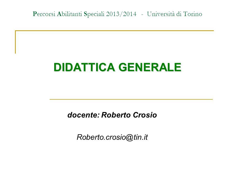 Percorsi Abilitanti Speciali 2013/2014 - Università di Torino