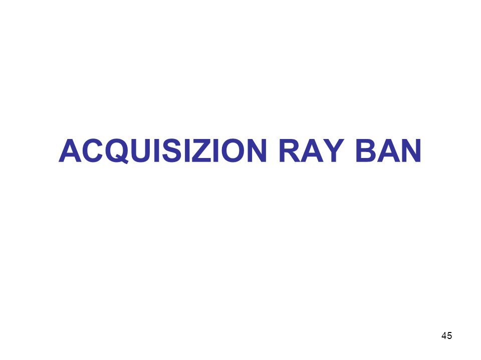 ACQUISIZION RAY BAN