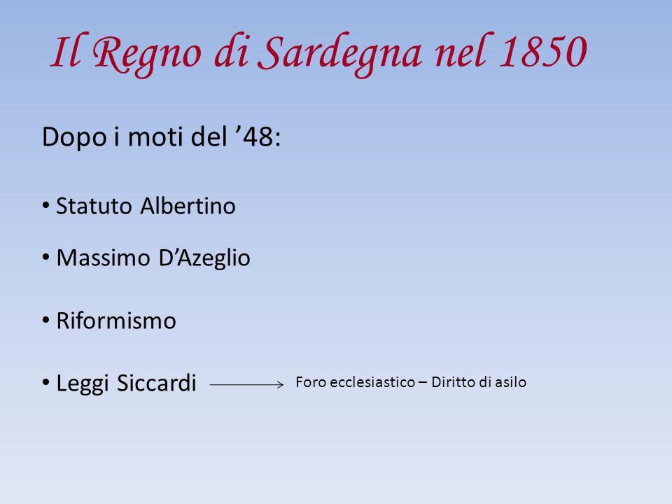 Il Regno di Sardegna nel 1850