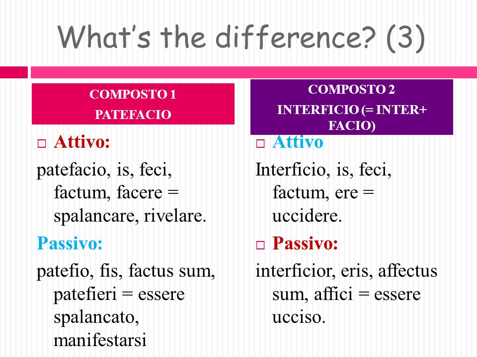 What's the difference (3)