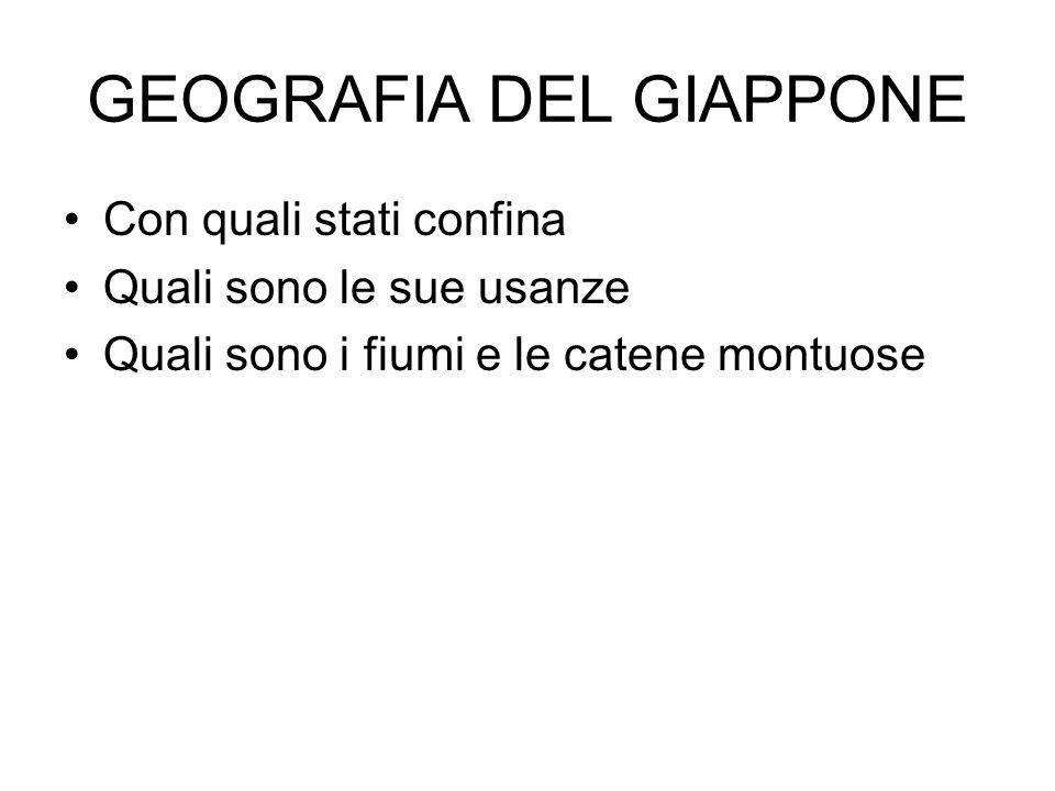 GEOGRAFIA DEL GIAPPONE