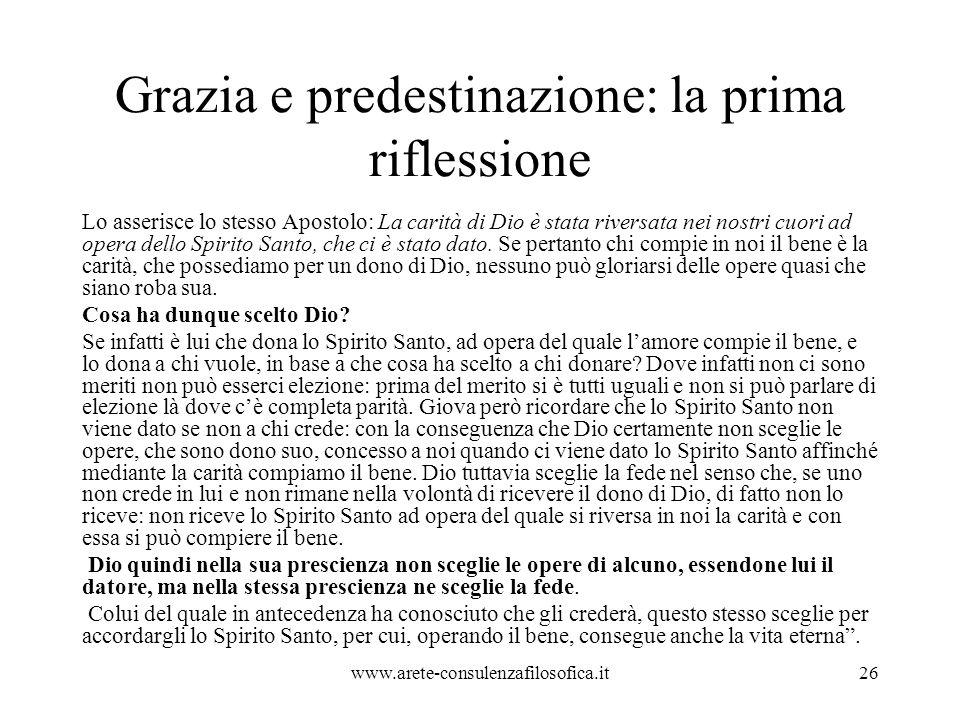 Grazia e predestinazione: la prima riflessione