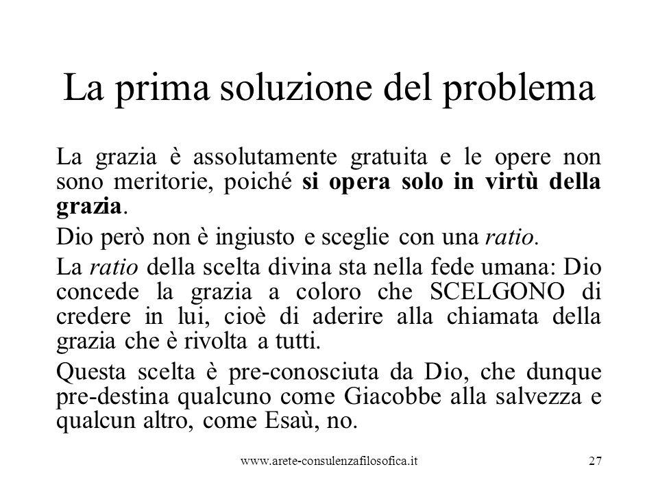 La prima soluzione del problema