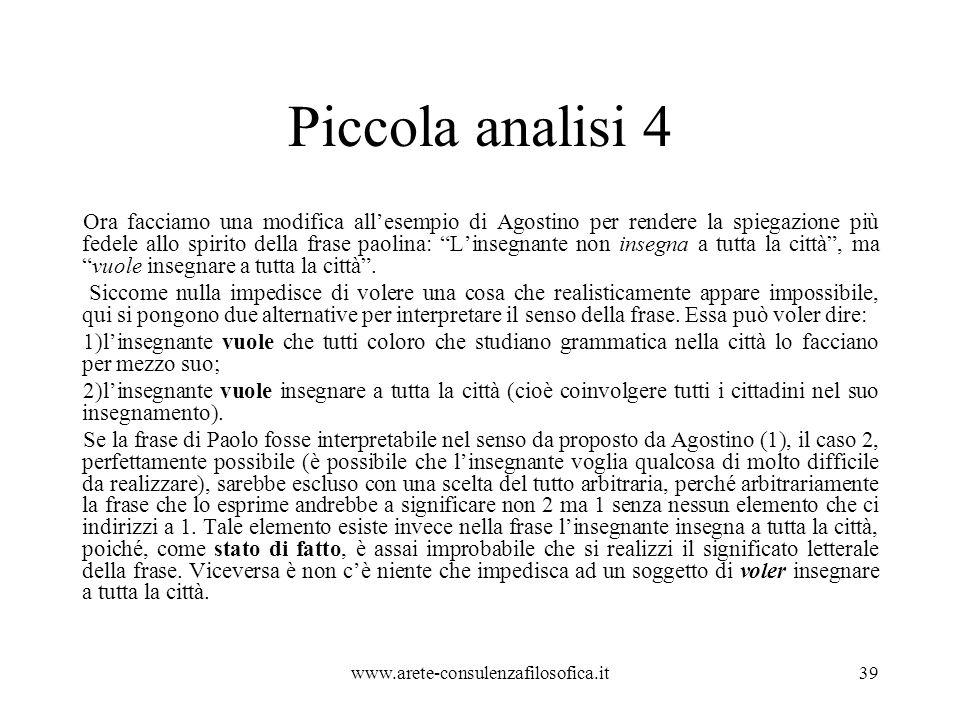 Piccola analisi 4