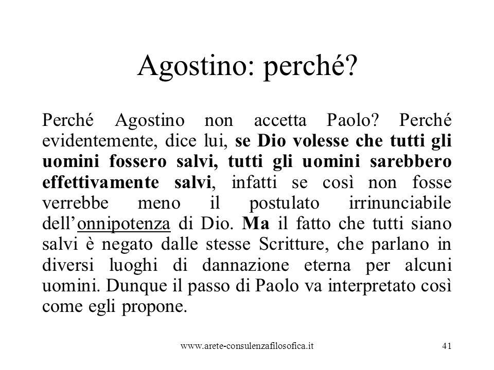 Agostino: perché