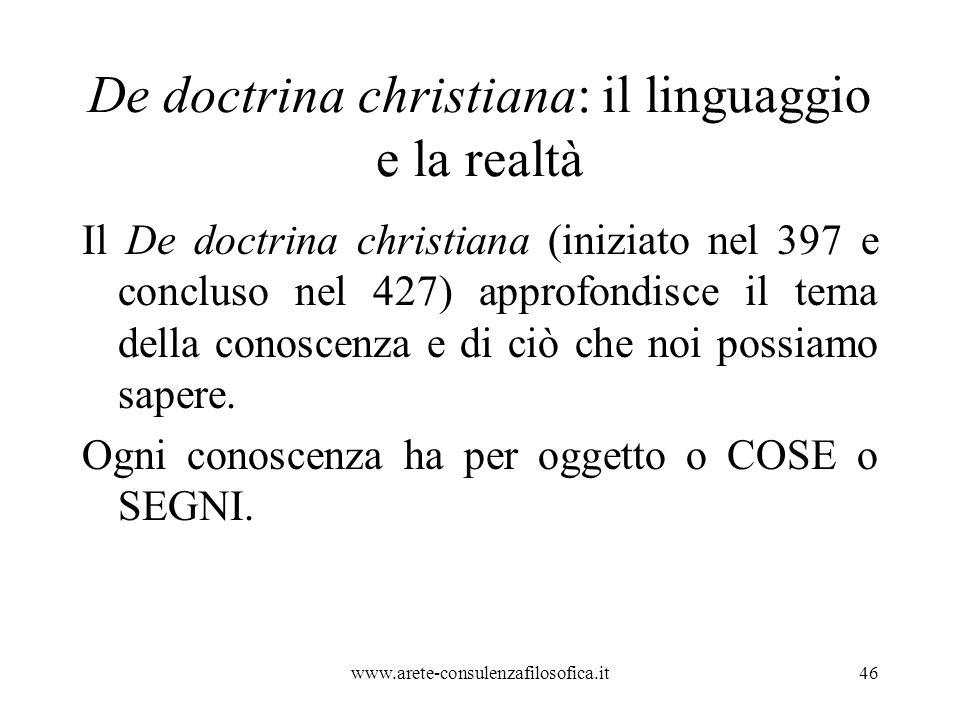 De doctrina christiana: il linguaggio e la realtà