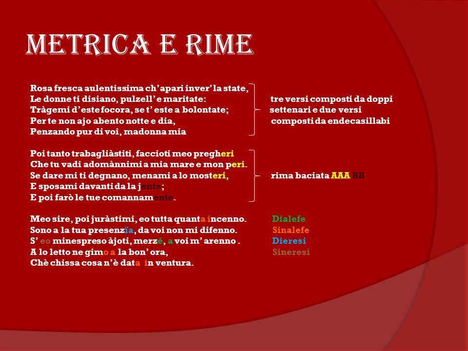 METRICA E RIME