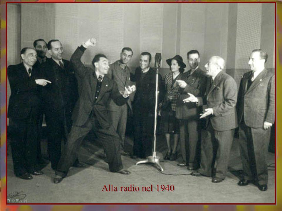 Alla radio nel 1940