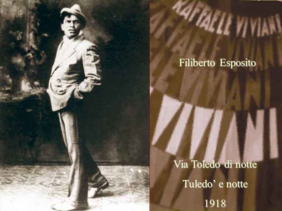 Filiberto Esposito Via Toledo di notte Tuledo' e notte 1918