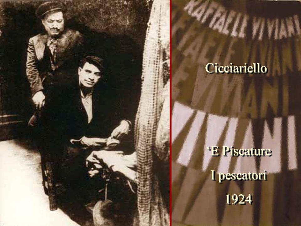 Cicciariello 'E Piscature I pescatori 1924