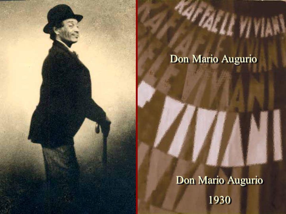 Don Mario Augurio Don Mario Augurio 1930