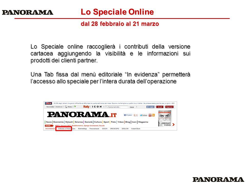 Lo Speciale Online dal 28 febbraio al 21 marzo