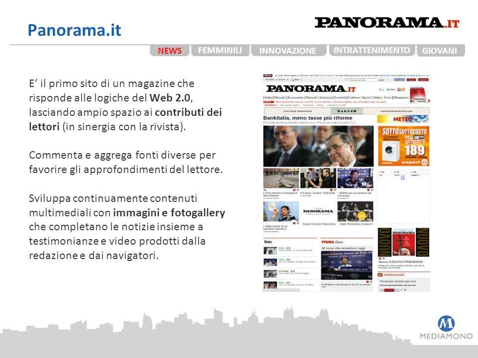 Panorama.it NEWS. FEMMINILI. INNOVAZIONE. TECH. INTRATTENIMENTO. GIOVANI. STUDENTI.