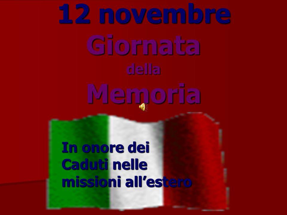 12 novembre Giornata della Memoria