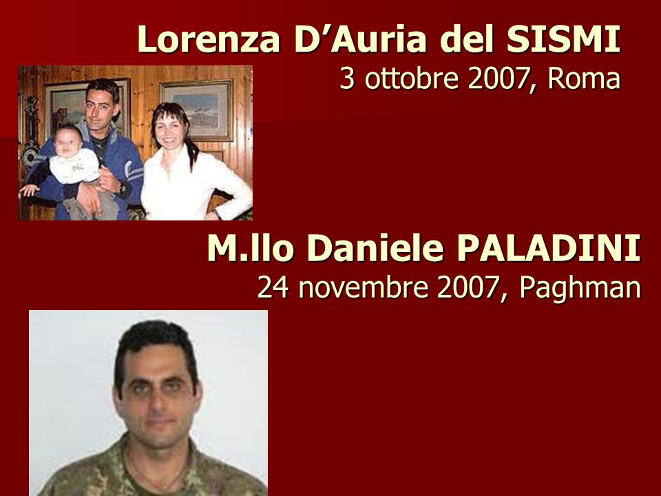 M.llo Daniele PALADINI 24 novembre 2007, Paghman