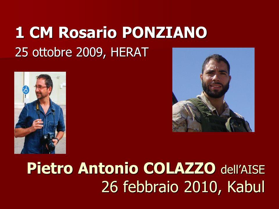 Pietro Antonio COLAZZO dell'AISE 26 febbraio 2010, Kabul