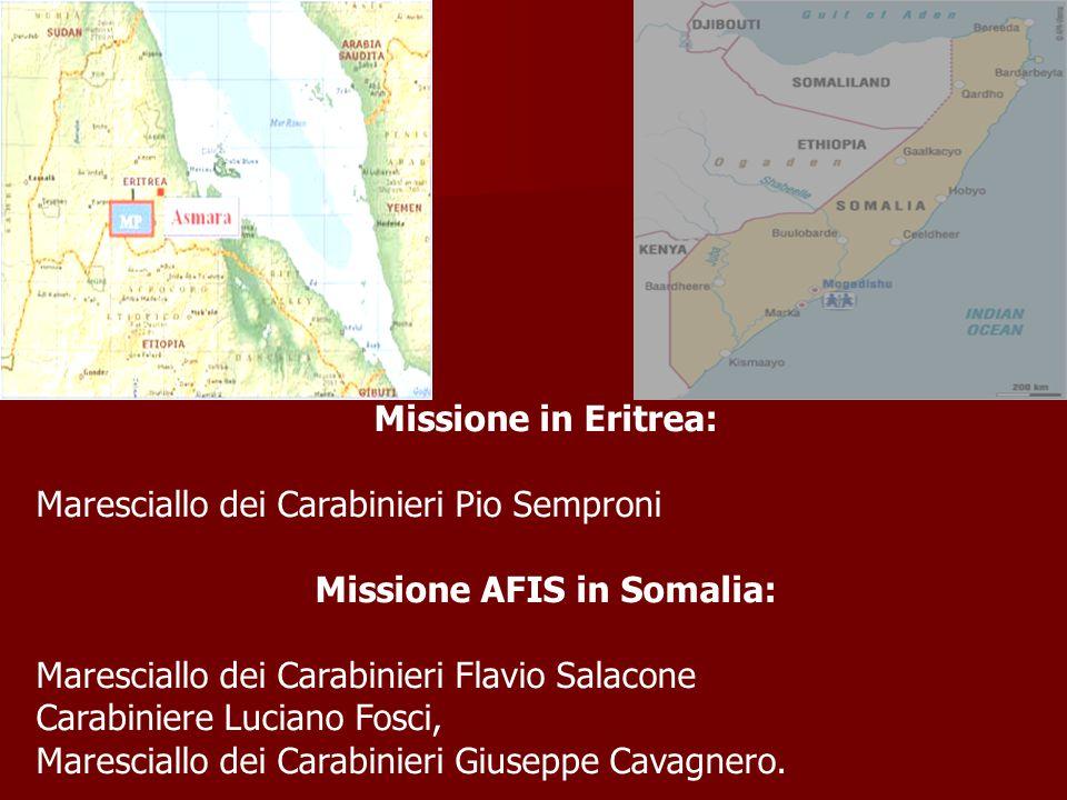 Missione AFIS in Somalia: