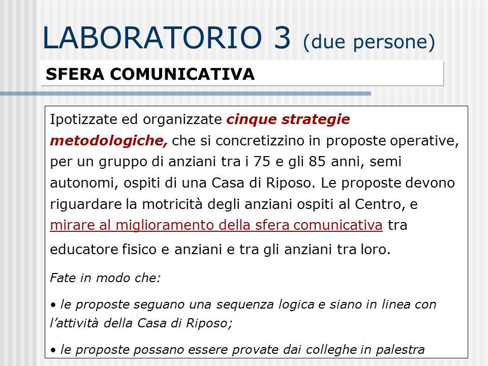 LABORATORIO 3 (due persone)
