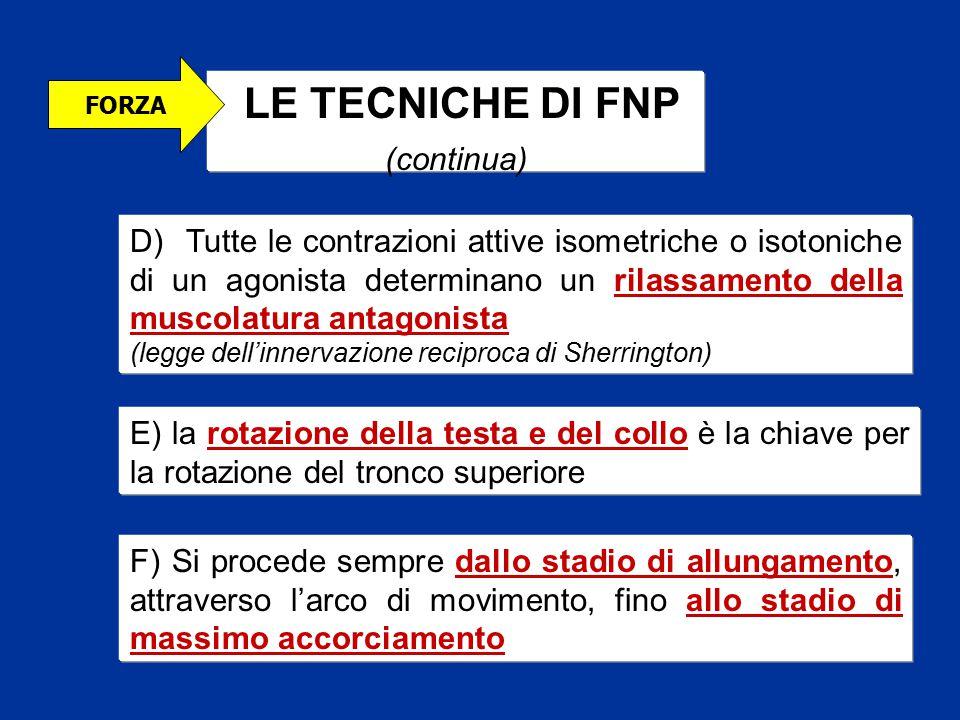 LE TECNICHE DI FNP (continua)