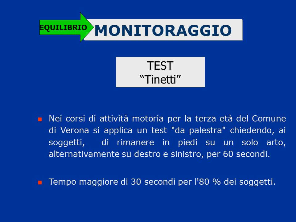 MONITORAGGIO TEST Tinetti