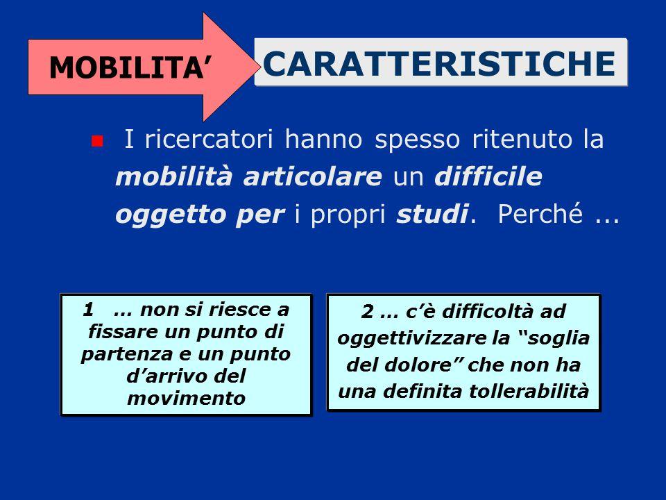 CARATTERISTICHE MOBILITA'