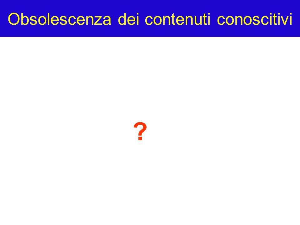 Obsolescenza dei contenuti conoscitivi